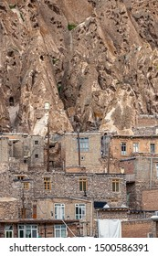 East Azerbaijan Province. Iran.close up view on traditional Iranian ancient village of troglodyte in Kandovan. near Tabriz city. looks like village in Turkey.