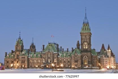 East Block Parliament in Ottawa Canada