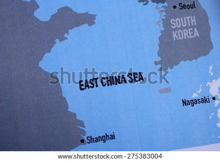 East China Sea Map Close Stock Photo (Edit Now) 275383004 - Shutterstock