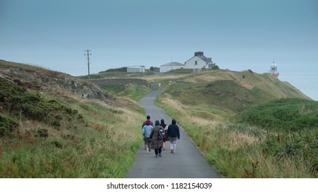 East Dublin, Ireland: 20/08/2018: The awesome view of The Howth with visitors spotted, Howth Village, East Part of Central Dublin, Ireland.