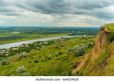 East Europe Nister river landscape