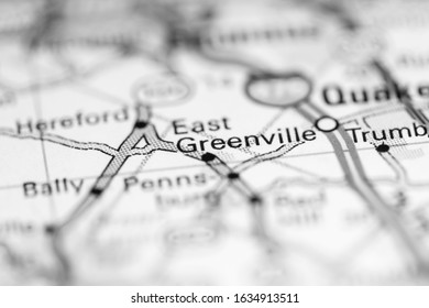 East Greenville. Pennsylvania. USA on a geography map