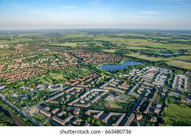 The east of Hamburg - Germany from above