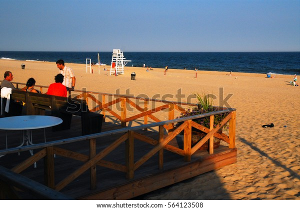 East Hampton, NY, USA July 27, 2010  Main Beach in East Hampton, New York empties in the late afternoon