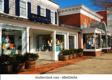 East Hampton, NY, USA March 6,  The Ralph Lauren store in South Hampton, New York sits idle in the off season.