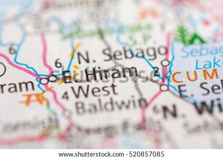 Hiram Maine Map.East Hiram Maine Usa Stock Photo Edit Now 520857085 Shutterstock
