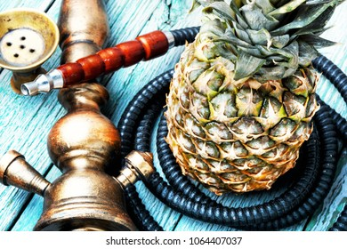 East hookah with the aroma pineapple for relax.Pineapple shisha