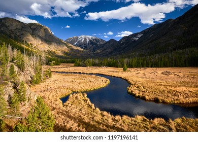 East Inlet Creek in Rocky Mountain National Park landscape, Colorado, USA.