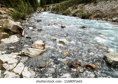East Kootenay/British Columbia/Canada - Jun 02 2018: Cascade view of the Vermilion River inside the Marble Canyon