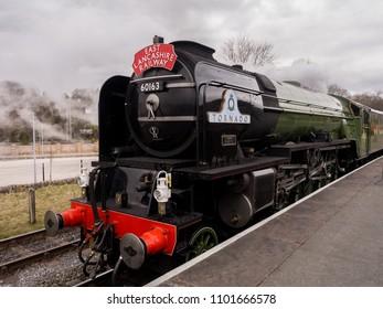 East lancashire railway, Bury, Lancashire, UK. 1st April 2018. The famous 100mph Tornado steam train on 4 days special visit to the East Lancashire Railway, Bury, Lancashire, UK