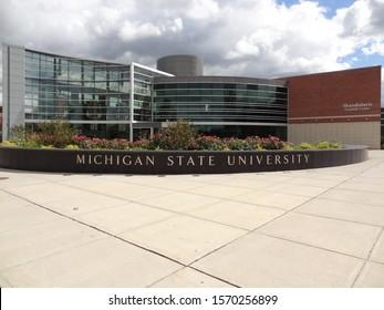 East Lansing, Michigan / United States - September 8 2012: Skandalaris Football Center at Michigan State University (MSU) in East Lansing, Michigan, United States.