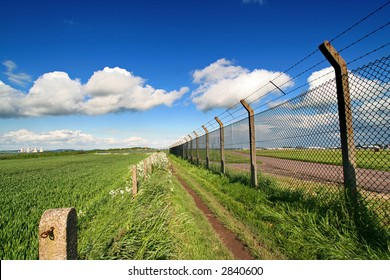 east midlands airport fence