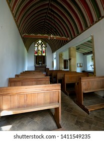 East Moors, North Yorkshire, England - May 2019: Interior of St Mary Magdalene Church at East Moors near Helmsley North Yorkshire.