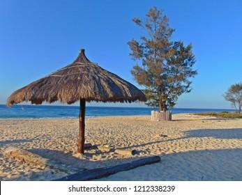 East Nusa Tenggara, Indonesia. September 8, 2018: A peacefull scenery in Mananga Abba beach, Sumba
