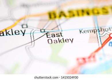 East Oakley. United Kingdom on a geography map