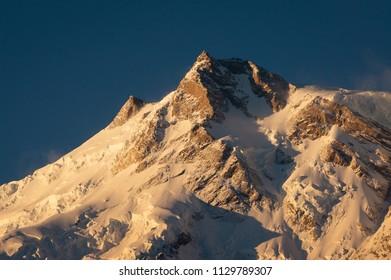 East peak of Nanga Parbat mountain massif, Chilas, Pakistan, Asia