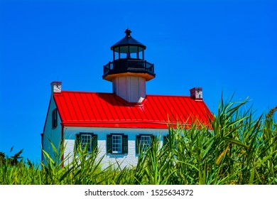 East Point Lighthouse, NJ in the summer