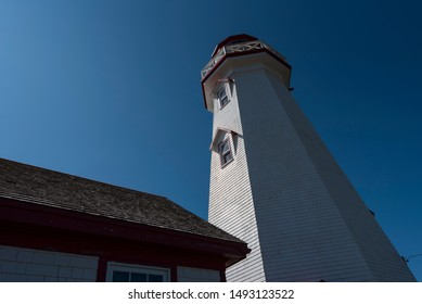 The East Point lighthouse in Prince Edward Island, Canada