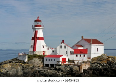 East Quoddy Lighthouse on Campobello Island, New Brunswick, Canada, is jointly owned by the U.S. and Canada