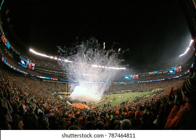 East Rutherford, New Jersey / USA - Feb. 2, 2014: Pregame ceremonies at Super Bowl XLVIII at MetLife Stadium in East Rutherford, New Jersey Feb. 2, 2014. The Seattle Seahawks beat the Denver Broncos.