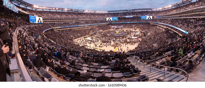 East Rutherford, New Jersey/United States - January 1 2020: The 13th Global Siyum Hashas of Day Yomi Celebration in Metlife Stadium Jewish event celebrating the completion of Babylonian Talmud