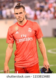 EAST RUTHERFORD, NJ - AUGUST 7, 2018: Gareth Bale of Real Madrid #11 after match against Roma in the 2018 International Champions Cup at MetLife stadium. Real Madrid won 2-1
