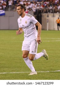 EAST RUTHERFORD, NJ - JULY 26, 2019: Gareth Bale of Real Madrid #11 in action during match against Atletico de Madrid in the 2019 International Champions Cup at MetLife stadium. Real Madrid lost 3-7