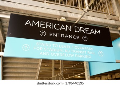 East Rutherford, NJ / USA - Aug. 7, 2020: COVID-19 closings, lost retail tenants and bankruptcies cast a pall on the future of the American Dream Meadowlands Mall near MetLife Stadium in New Jersey.