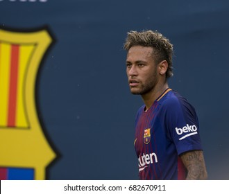 East Rutherford, NJ USA - July 22, 2017: Neymar (11) of Barcelona reacts during International Champions Cup game against Juventus on MetLife stadium Barcelona won 2 - 1