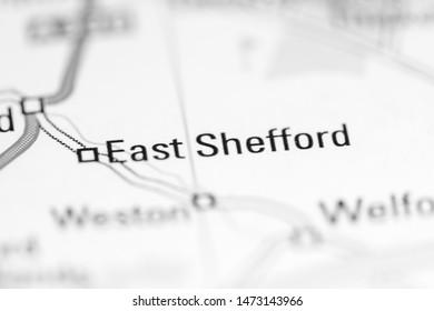 East Shefford. United Kingdom on a geography map