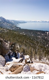 East shore of Lake Tahoe in winter