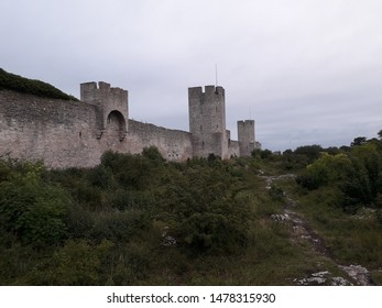 Östergravar, east side of the defense wall that surrounds the old town Visby. Medieval, a part of UNESCO, a world heritage. Located in the island of Gotland, Sweden.