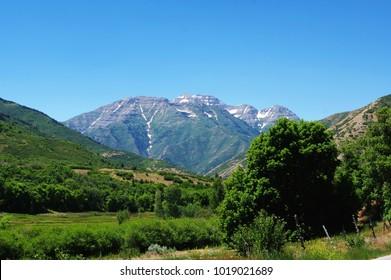 East side of Mt. Timpanogos near Alpine, Utah and Sundance Ski Resort