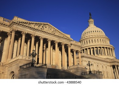 East side view of the United States Capitol.