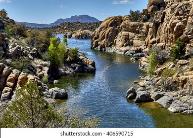 East Side of Watson Lake, Prescott, Arizona, USA situated in Boulders