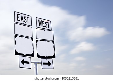 East West Road Sign Blank