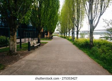 The Eastbank Esplanade, in Portland, Oregon.