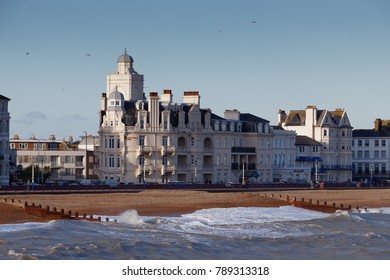 EASTBOURNE, EAST SUSSEX/UK - JANUARY 7 : View of the Shoreview Hotel in Eastbourne East Sussex on January 7, 2018. Unidentified people