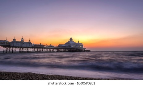 Eastbourne Pier, Eastbourne, East Sussex, England. Image taken at sunrise around 5am on 24th February 2018.