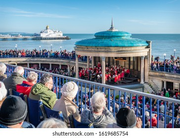 Eastbourne, Sussex, England - Dec 25 2016; Eastbourne Silver Band Christmas Concert at Eastbourne Band Stand