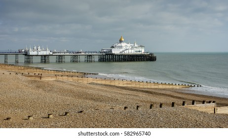 EASTBOURNE, SUSSEX/UK - FEBRUARY 19 : View of the Pier in Eastbourne Sussex on February 19, 2017