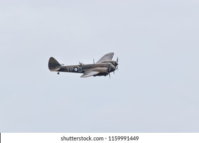 EASTBOURNE, UNITED KINGDOM - AUGUST 18, 2018. Blenheim bomber at the Eastbourne International Airshow, 18th August 2018.
