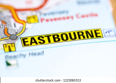 Eastbourne. United Kingdom on a map