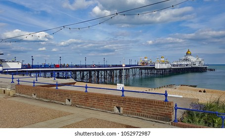 Eastbourne,East Sussex/UK 7/14/17 Eastbourne pier on a beautiful warm,sunny day
