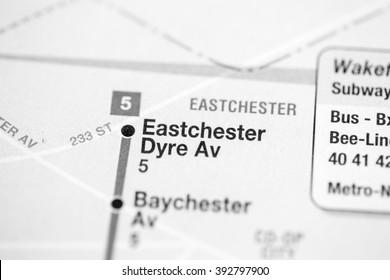 Eastchester Dyre Av. Lexington Av/Pelham Express Line. NYC. USA
