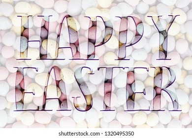 Easter background, with Happy Easter quote. Great for social media campaigns.