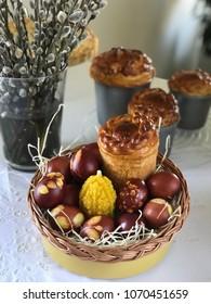 Easter basket (Easter bread, Easter eggs)