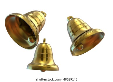Easter bells isolated on white background