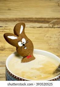 Easter Bunny in coffee cup
