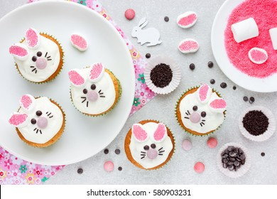 Easter bunny cupcakes , Easter food craft idea for kids